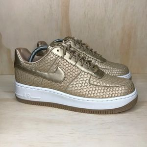 NEW NIke Air Force 1 Upstep Gold